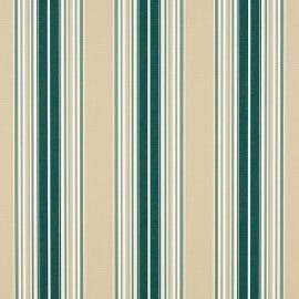 Sunbrella Shade - Forest Green/Beige/Natural Fancy Stripe - 4932-0000