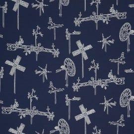 Mayer Fabrics - Whirligig Navy - 431-004
