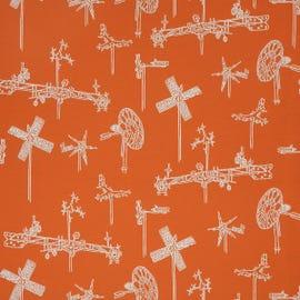 Mayer Fabrics - Whirligig Tangerine - 431-009