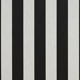 Sunbrella Shade - Beaufort Black/White 6 Bar - 5704-0000