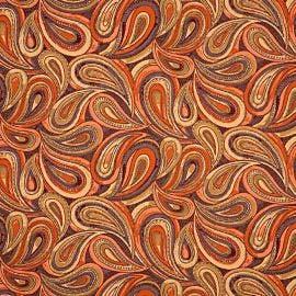 Mayer Fabrics - Boteh Orange Blaze - 414-009