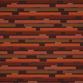 Fabricut Contract - Lateral Bricks Beetroot - 9388302