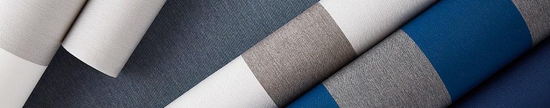 White, grey, and blue fabrics